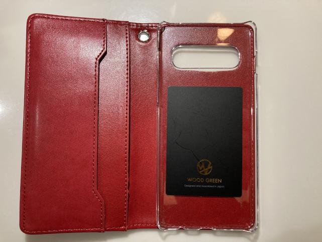galaxy S10専用の『woodgreen』手帳型スマホケース