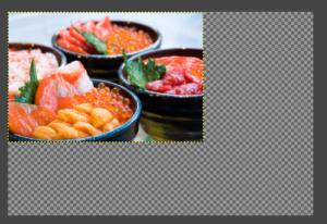 『GIMP』で画像を小さくしたら現れた無駄な余白(キャンバス)。
