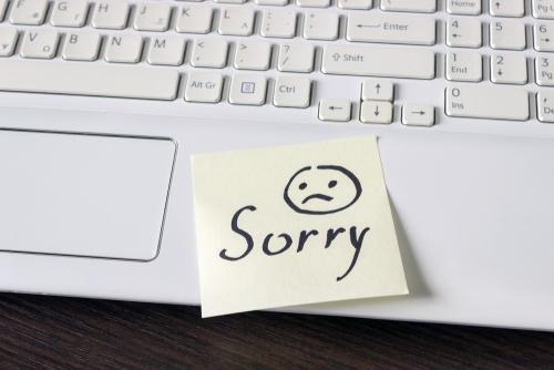 ——ごめんなさい。