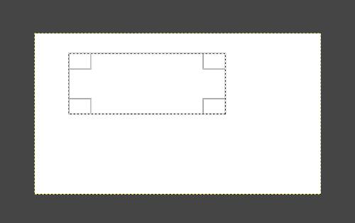 GIMPで範囲を指定しました。