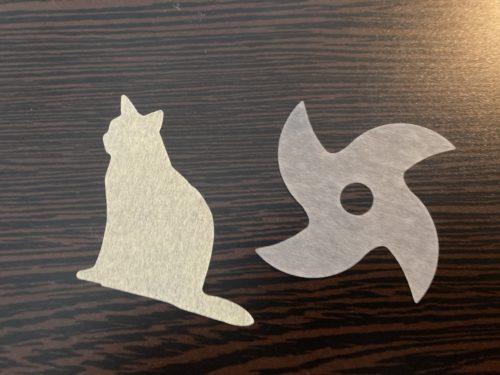 紙石鹸の猫と手裏剣。